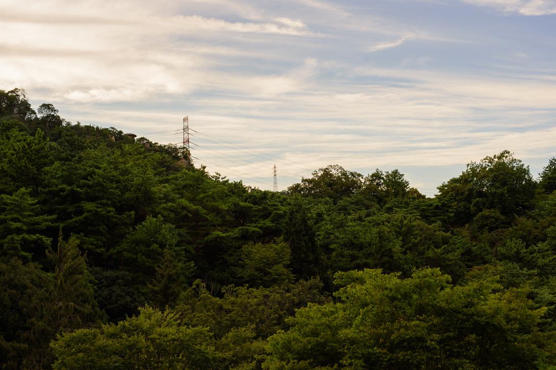 F11 もちろん遠景もバッチリです。空のハイライト、木々のシャドー部分までしっかりと描写しています。